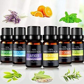Aceites Esenciales joylink 100% Natural Puro 6 x 10 ml Set de Aceites Esenciales(Lavanda Menta Naranja Dulce Eucalipt...