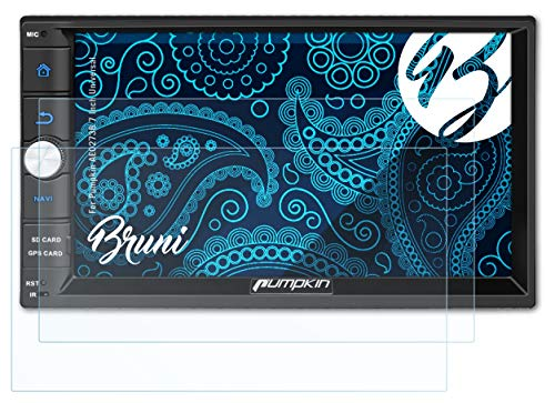 Bruni Schutzfolie kompatibel mit Pumpkin AE0273B 7 Inch Universal Folie, glasklare Bildschirmschutzfolie (2X)