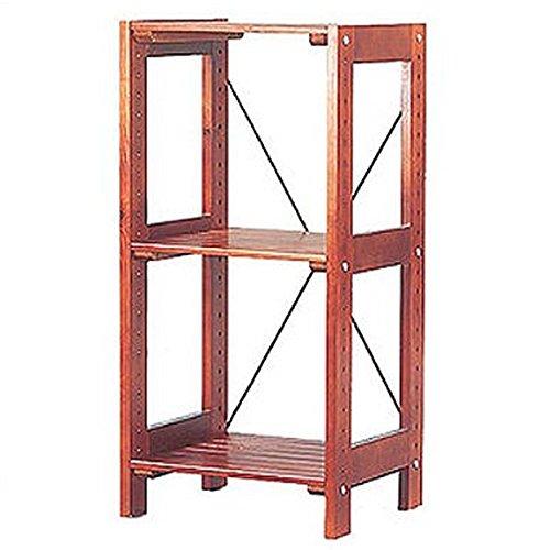 アイリスオーヤマ ラック 木製 幅38.5×奥行35×高さ80cm ウッディラック ブラウン WOR-3308