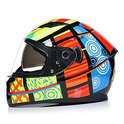 SKINGO Casco Moto Integrale Modulare, Silenzioso con Visiera Parasole Casco Moto Integrale, Certificato DOT, Casco Integrale Unisex A Doppia Lente Trasparente