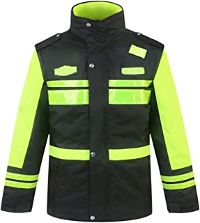 سترات السلامة الشتوية ملابس العمل الخارجية ملابس حماية حرارية للرجال من القطن مبطن ملابس أمان سميكة دافئة, Small