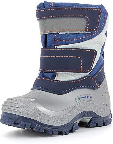 Spirale Kinderschuhe Simon Jungen Stiefel, Winterstiefel, Boots, Schlupfstiefel blau (blau), EU 21