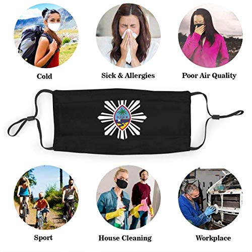 AngelDOU Iron Worker Skull Washable and Reusable Face Cover Cute Bandanas Neck Gaiter with Filters