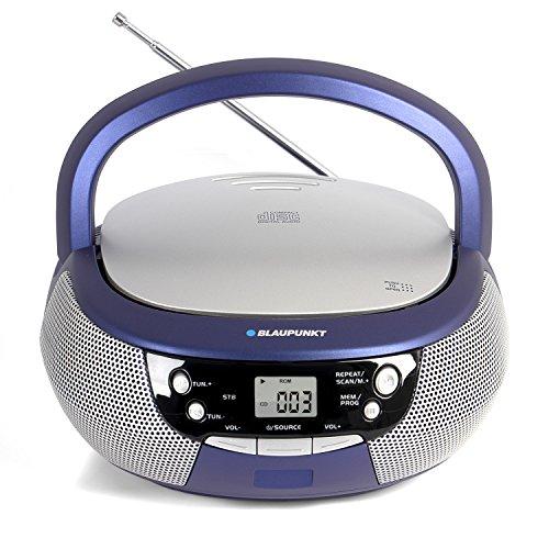 Blaupunkt B 3 PLL Boombox mit UKW PLL Radio   CD-Player   AUX IN / MP3   Stereo-Lautsprecher   LCD-Display   Netz- und Batterie-Betrieb   Kinder Musikbox