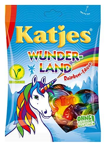 Katjes Wunderland Rainbow-Edition - Leckeres Fruchtgummi in magischen Formen und Farben - inspiriert von den Farben des Regenbogens, 200 g