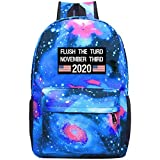 Flush the Turd November Third Galaxy Backpack Casual Daypack Travel Laptop Bag for Girls Boys