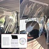 Car Taxi Isolation Film,Transparent Plastic Full Surround Protective Membrane Film,PE Material Non-Toxic Automobile Isolation Film,1.4x2M