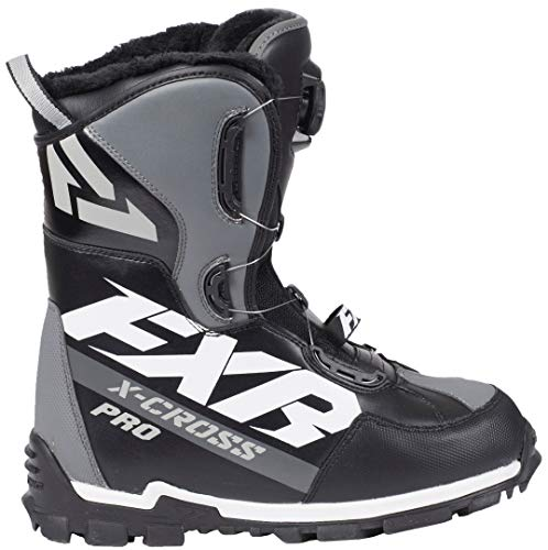 FXR X-Cross Pro BOA Boot (Black/White/Charcoal, Mens 6 / Womens 8 / EU38)