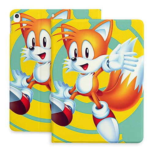 Anime So-nic Th-e Hed-gehog Tails New Ipad 10.2in Case 7th Generation 2019/8th Gen 2020,Ipad Air/Pro 10.5 in Smart Cover Case Tablet Durable Classic Auto Wake/Sleep Stand Adjustable Angle Shockproof
