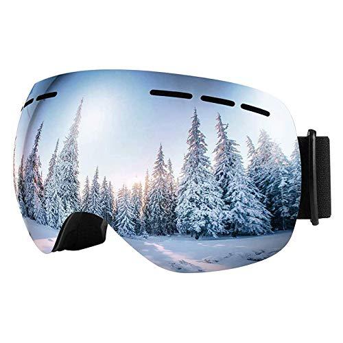 VLT Skibrille Herren Damen,Snowboard Brille für Brillenträger Schneebrille OTG UV-Schutz Anti Fog Skibrillen für Wintersportarten, Skifahren, Skaten