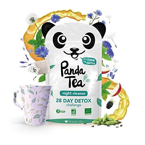 Panda Tea Night Cleanse–Infusión ecológica de menta–28bolsitas de muselina de algodón