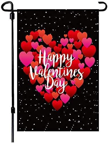 Valentine's Day Recommendation Flag 12x18 Inch Heart Garden Luxury goods Do