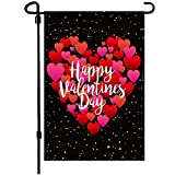 Valentine's Day Flag,12.5x18 Inch Valentine's Heart Garden Flag Double Sided Printing 2 Layer Burlap Valentine Flags for Your Valentine's Day Decoration