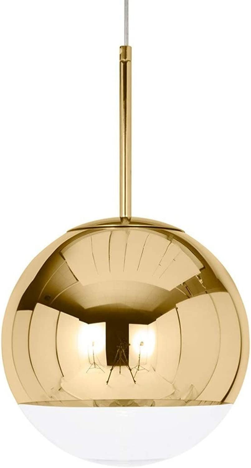 Take Me Home Furniture Ball Modern pink gold Pendant 14  Half Clear, Half pink gold, Adjustable high,