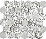 Mosaico in ceramica esagonale, grigio, parete per pavimento, cucina, doccia, bagno, piastrella, mosaico