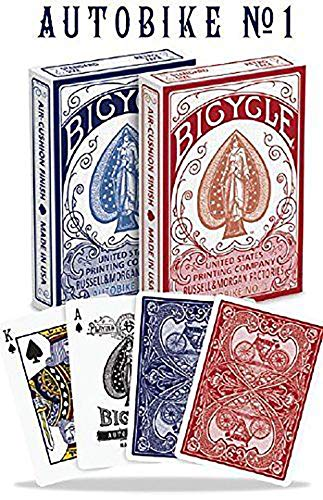 Bicycle Spielkarten No. 1 Autobike N.1 Poker, Blue/REd, 62.5x88 mm