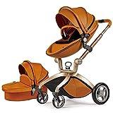 Cochecito de bebé Hot Mom 2 en 1 con Sillas de paseo, 2020 Lifestyle F22 con 2 piezas - Marron