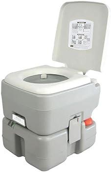 SereneLife 3-Way Piston Flush Portable RV Toilet