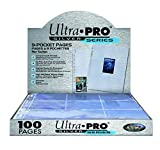 Ultra Pro-E-81442-E Hojas para Album de cartas, Color transparente, 1-pack (UPR81442)