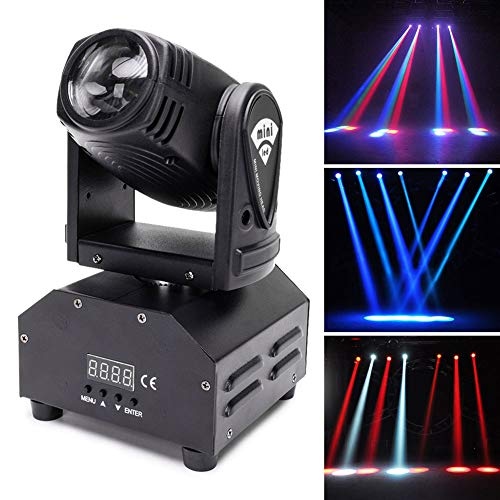 U`King Moving Head Stage Light RGBW (4 in 1) DMX512 Rotating Wash Lighting Effect Spotlight with Sound Activated Control for DJ Disco Live Show Club Dance Party Wedding Bar Theater Christmas Lights