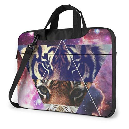 Lion Tiger Leopard Funda para portátil de 14 Pulgadas, Elegante y Bonito Bolso de Neopreno para portátil