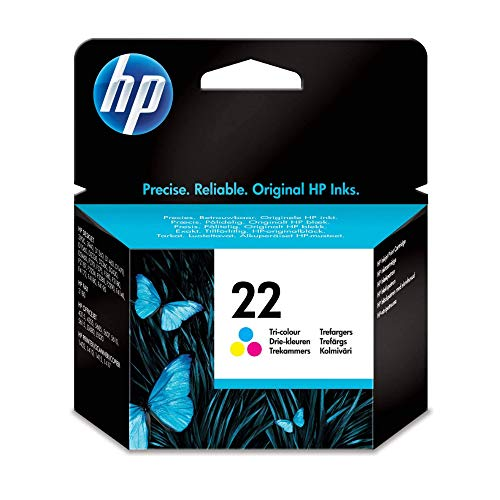 HP 22 Farbe Original Druckerpatrone für HP Deskjet 3940, D1530, D2360, D2460, F2180, F2224, F380, F4180; HP Officejet 4315, 4355, 5610, 5615; HP PSC 1410