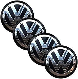 65mm Wheel Center Hub Cap Decals Emblem Stickers for VW Volkswagen Center Caps,Set of 4 pcs- for Volkswagen Wheel Center C...