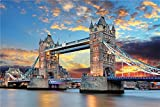 Queenie Exquisite Wooden 1000 Pieces of 30 x 20 inch Colored London Bridge Architectural Picture Puzzle Jigsaw
