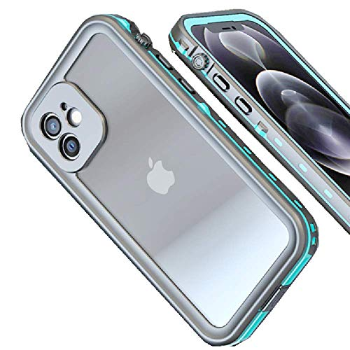 Phone Magsafe Case, REDPEPPER Double-Layer Drop Protection Cover, Waterproof Phone Cover for iPhone 12 Pro Max, Compatible with Magsafe(Grass Blue)