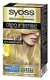 Syoss Oleo Intense - Tono 10 Rubio Muy Claro – Coloración permanente sin amoníaco – Resultados de peluquería – Cobertura profesional de canas - 120 g