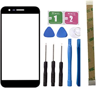 Replacement Repair Front Outer Top Glass Lens Cover Screen For LG K10 2017 k20 plus X400 M250N Mobile Phone Parts (NO LCD and Touch Digitizer) (Black)