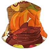 Bklzzjc Happy Thanksgiving Festliches Abendessen Truthahn Nackenwärmer - Nackenschutzrohr, Ohrenwärmer Stirnband & Gesichtsmaske.