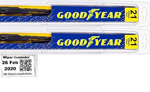 Premium - Windshield Wiper Blade Set/Kit/Bundle for 2007-2008 Jeep Grand Cherokee (Laredo) - Driver & Passenger Blades & Reminder Sticker