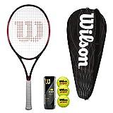 Wilson Federer Pro Raquette de tennis avec housse et 3 balles de tennis (Grip Taille 3 (4 1/4') Bundle