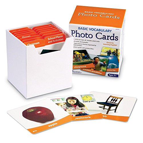 Learning Resources Basic Vocabulary 156 Photo Cards for 11.42