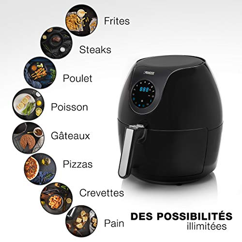 Friteuse Princess digitale Aerofryer familiale 182050 – friteuse sans huile – Contenance: 5,2l