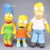 N\A 30-43cm 3pcs Los Simpsons Homer Simpson Bart Simpson Marge Peluches Muñeca Almohada, Cumpleaños para Niños 30-43cm 3 Piezas