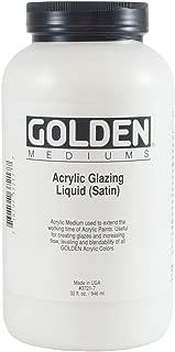 Golden Acrylic Medium, Glazing Liquid, 32 Oz, Satin