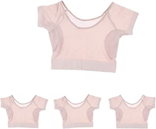 Lovoski Ladies Underarm Sweat Pads Camisole - Pack of 4 - Reusable Sweat Absorbent Shields Armpit Guards