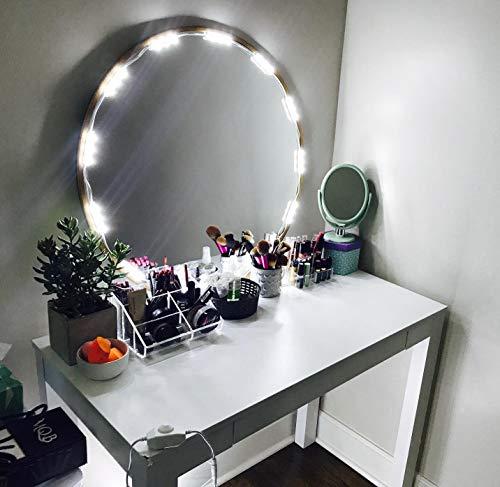 PENSON & CO. MLL-5050-04 PENSON Cosmetic Makeup Vanity Mirror Kit, 20 LED Lights, Basic...