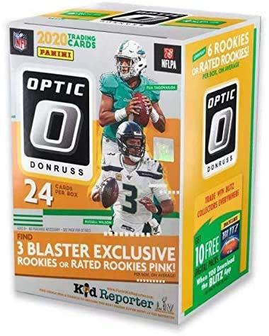 2020 Panini NFL Donruss Optic Football Trading Card Blaster Box Look For Herbert RC, Tua RC, Burrow RC Autographs randomly inserted