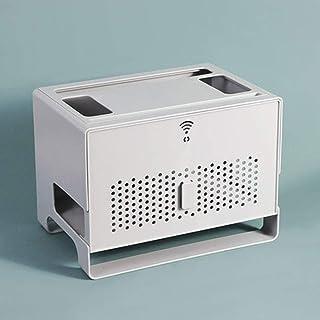 xxz WiFi Router Shelf,enrutador,regleta de enchufes,decodificador,Panel poroso Frontal,la disipación de Calor no bloquea l...