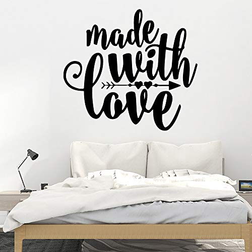 Made With Love Selbstklebende Vinyl Tapete Wandaufkleber Räume Home Decoration Grau L 43cm X 47cm
