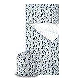 Saco de dormir/juego de guardería para niño y niña de 2 a 6 años – Tejido acolchado 100% algodón – Fabricado en Italia (Set guardería, Mickey Mouse rayas azules)