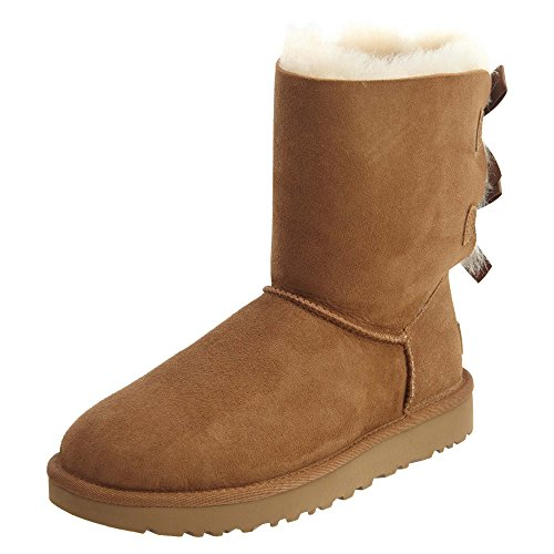 UGG Women's Bailey Bow II Winter Boot, Chestnut, 8 B US