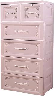 KHFJ Armoire Portable 5 tiroirs Grand Dresser Organisateur de Rangement en Plastique Tiroirs Tiroirs de Rangement for Clos...