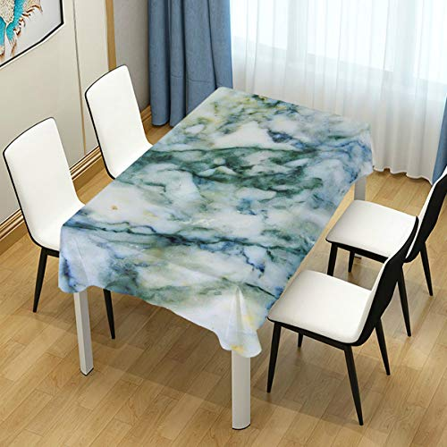 WIHVE Square Tablecloth Green Marble Table Cloth for Kitchen Dinning Tabletop Buffet Decoration Table Cover 54 x 54 Inch