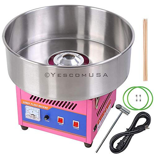 Find Cheap 20 Inches Pink Tabletop Commercial Cotton Candy Machine Generation III 1050W Stainless Steel Electric Floss Appliance Food Maker Carnival Parties