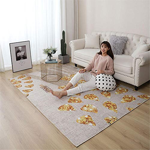 Teppich Pflegeleicht tepiche für Wohnzimmer Shaggy Kinderzimmer Carpet modern Design Home Boden Zuhause Dekoration/ins nordische Einfachheit Gesamtgröße: (B-120 cm x L-160 cm)
