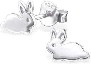 925 Sterling Silver Bunny Rabbit Stud Earrings 22395